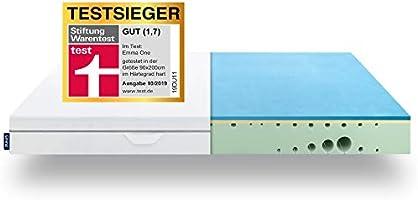 EMMA One Matratze - 7 Zonen Visco-Schaum Matratze - atmungsaktiv - Öko Tex Zertifiziert - Entwickelt in Deutschland