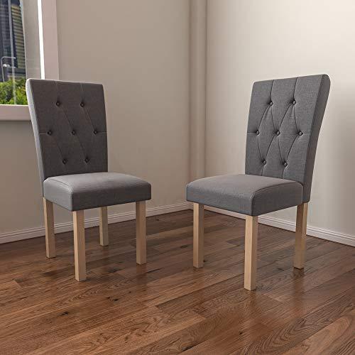 Vida Designs Comedor, Horton Gris & Roble, 2 sillas