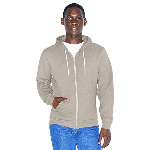 American Apparel Unisex-Erwachsene Flex Fleece Long Sleeve Zip Hoodie Kapuzenpulli, Zinnfarben, Large