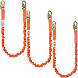 WELKFORDER 6-foot Internal Shock Absorbing Safety Lanyard with Double Forging Snap Hook Connectors ANSI Z359.13-2013 Compliant Fall Protection Equipment (3 Pack)