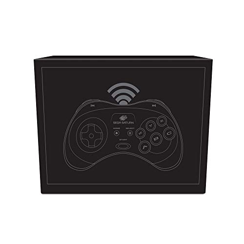 Retro-Bit Official SEGA Saturn Wireless Bluetooth Controller for PC, Switch, Mac, Steam, RetroPie, Raspberry Pi - Black