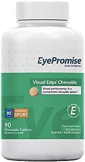 EyePromise vizual Edge Chewable - 1 Month Supply | Orange Flavored Performance Eye Vitamin with Zeaxanthin, Lutein & Vitam...
