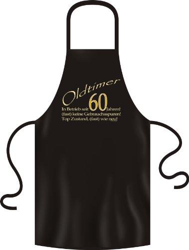 Verve Fun Shirt Anniversaire 60 Ans Tablier de Barbecue Oldtimer (Presque) comme Neuf dans d'Exploitation Depuis 60 Ans en Noir Taille Unique