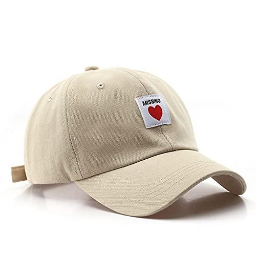 CHENGGI Gorras De Hombre Gorra de béisbol de algodón para Mujer, Sombreros de Verano para el Sol, Gorras con Parche de Moda Love, Gorra Snapback Informal para niñas, Ajustable