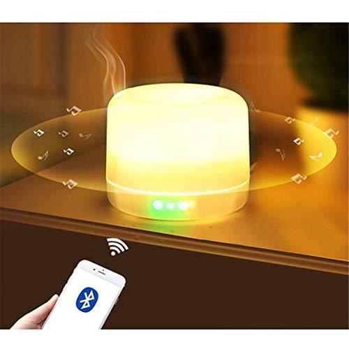 Jiahe Diffusore di Olio Essenziale 500ml con Altoparlante Senza Fili Bluetooth Air Umidificatore con umidificatore USB di Ricarica 7 Luce Notturna a Colori