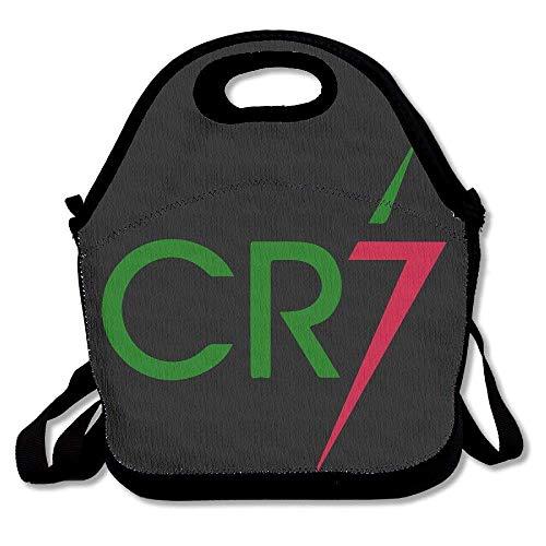JUCHen CR7 Lunch-Tasche für Damen, Herren, Kinder, mit verstellbarem Riemen