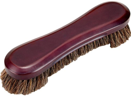 Stained Wood Deluxe Horse Hair Pool Table Brush, Wine