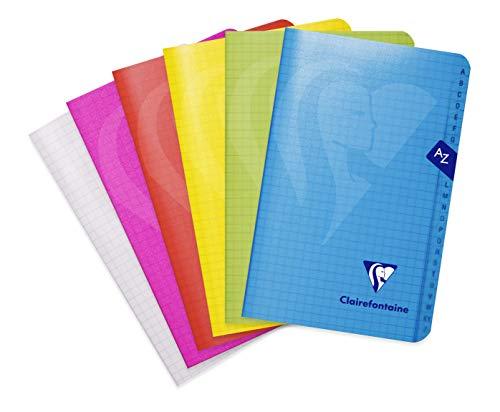 Clairefontaine 303609C – Una rubrica Mimesys 96 pagine, 11 x 17 cm, 90 g, a quadretti piccoli, copertina in polipropilene (plastica), colore casuale