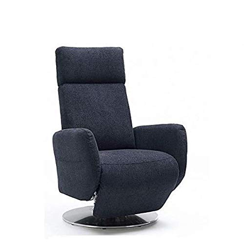 Cavadore TV-Sessel Cobra mit 2 E-Motoren/ Elektrisch verstellbarer Fernsehsessel mit Fernbedienung / Relaxfunktion, Liegefunktion / Ergonomie L / Belastbar bis 130 kg / 71 x 112 x 82 / Anthrazit