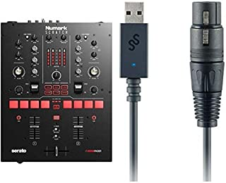 Numark Scratch + SoundSwitch DMX Micro Interface   2-Channel DJ Scratch Mixer with Innofader Crossfader, DVS License, Performance Pads + Compact USB to DMX Interface and Serato DJ Pro Included