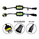 ANYCAR Led Headlight Decoder H11 H8 Canbus Resistor Anti-flicker Harness Headlight Bulb De...