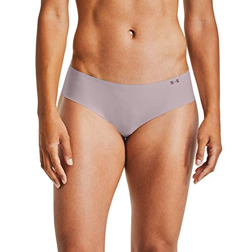 Under Armour Women's Pure Stretch Hipster Underwear, 3-Pack , Black (004)/Dash Pink , Small