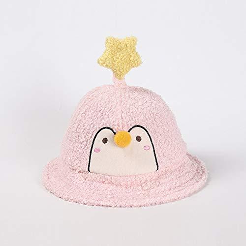 Sombrero para niños para otoño e Invierno Nueva versión Coreana de Lana de Cordero cálido Sombrero de Pescador para niños pingüino Estrella tentáculos bebé Sombrero de Invierno