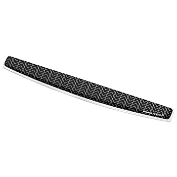 Fellowes Photo Gel Keyboard Wrist Rest with Microban Protection Black Chevron  9550001
