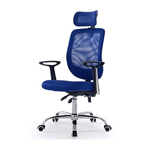 Silla de oficina, ergonómica, ajustable, silla de oficina, con respaldo alto, silla de malla para computadora con soporte lumbar y apoyabrazos para juegos y silla de escritorio (color B: B)