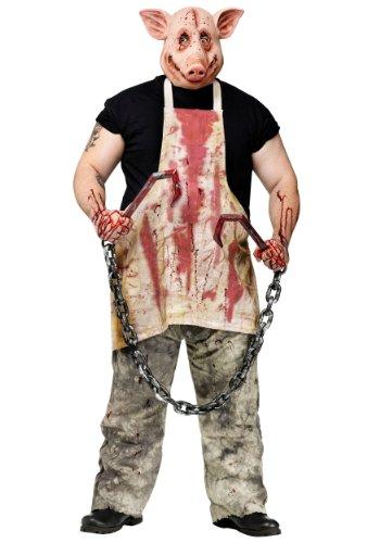 FunWorld Pork Grinder Adult Pig Costume, Tan, One size