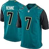 HANWAR Ramsey20# Fournette27# Jacksonville Jaguars Rugby T-Shirts Top brodé Maillot de Football américain-green7-XXL