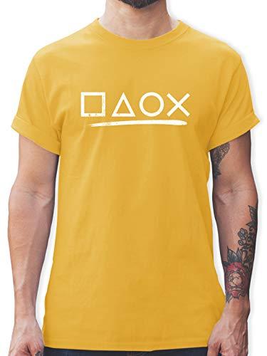 Nerds & Geeks - Gamer - L - Gelb - Nerd t-Shirt - L190 - Tshirt Herren und Männer T-Shirts