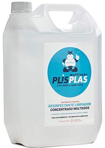 PLIS PLAS Desinfectante Concentrado Multiusos H.A. - SIN LEJIA - Potente limpiador desengrasante quitamanchas-cocinas,baños,tapicerias,suelos antideslizantes,marmol,piedra,madera,etc.