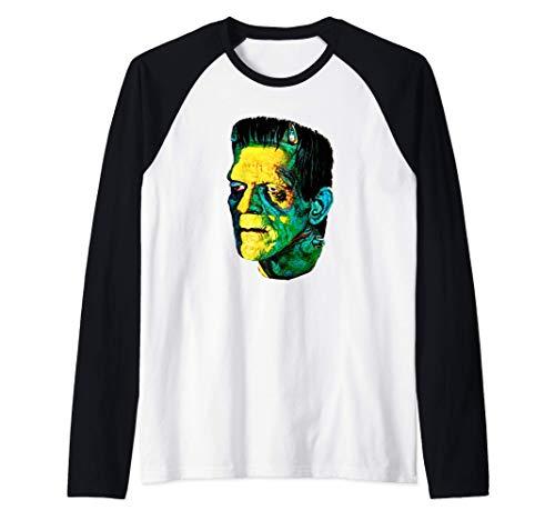 Monstruo deFrankenstein. Fanático películas serie B Camiseta Manga Raglan