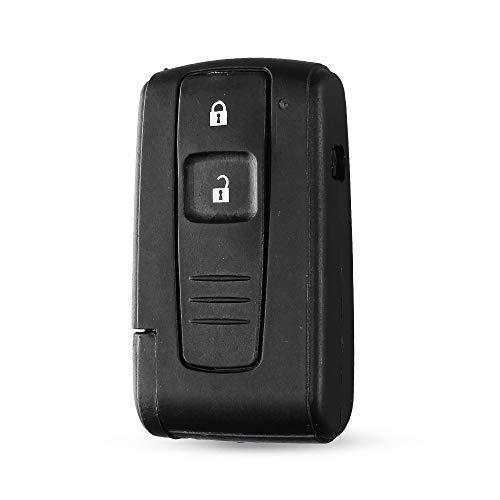 ECOPRINTING | Carcasa Llave para Toyota - Funda Mando a Distancia 3 Botones para Coche Toyota Prius Auris Aygo 2004-2009 Camry Keyless Corolla Verso