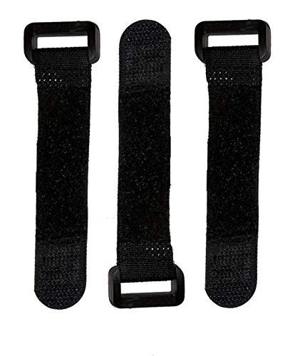25x FrogJim Klett-Kabelbinder 10cm schwarz mit Schnalle, wiederverwendbares Klettband, 20mm breit Nylon KSE1025 (10cm - 25er-Pack, schwarz)