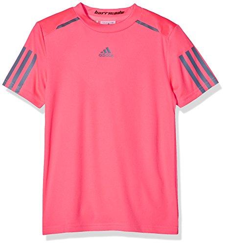 adidas Jungen Barricade T-Shirt, Flash Red/Tech Ink, 176
