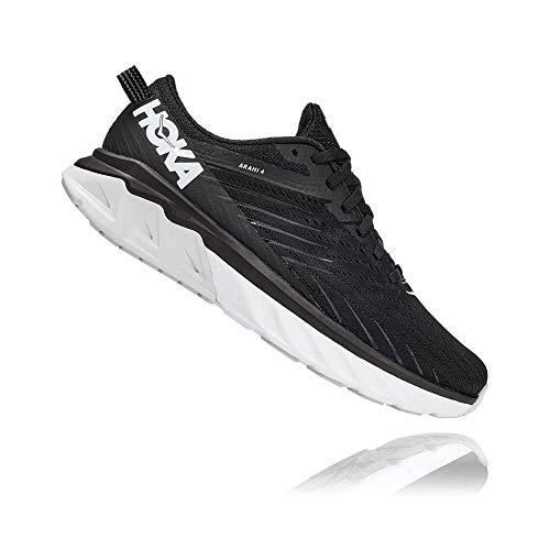 Hoka One 1106474-BWHT: Women's Arahi 4 Black/White Sneakers,10 B(M) US Women,Black/White