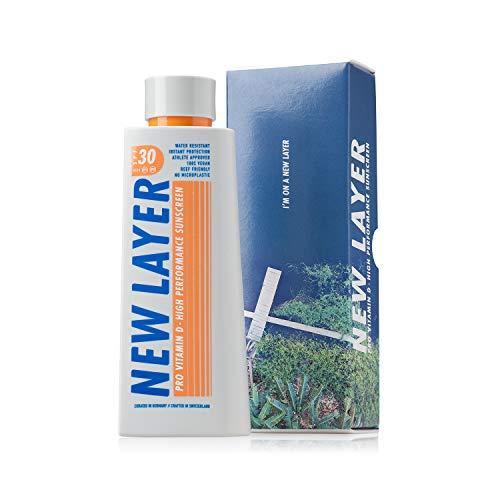 NEW LAYER crème solaire | SPF 30 | Pro Vitamine D | Sans micro-plastique | Sans octocrylène | Résistant à l'eau | Respecte l'océan (200ml)