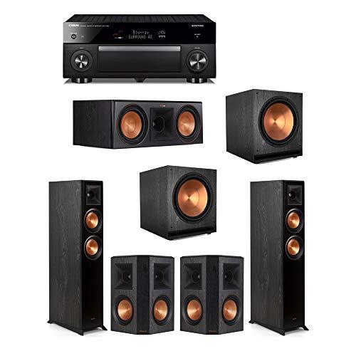Lowest Price! Klipsch5.2 Ebony System - 2 RP-5000F,1 RP-600C,2 RP-502S,2 SPL-150,1 RX-A1080 Receiv...