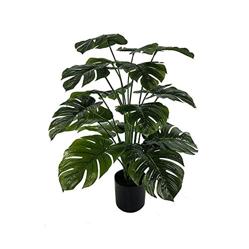 Monstera Deliciosa - Planta tropical artificial con hojas grandes, altura +/-60 cm