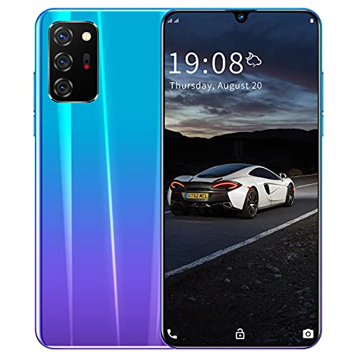 RUBAPOSM Note 20 Desbloquear Smartphone, Teléfono Móvil Dual SIM 3G, Pantalla Completa HD de 5,8 in, Cámara de 2MP + 5MP, Batería de 1950 mAh, Usado Globalmente,Gradient Purple