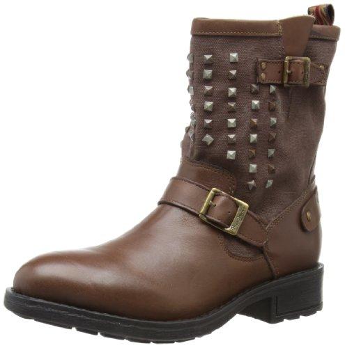 Pepe Jeans London Damen PIM-280 B Biker Boots, Braun (878 Brown), 39 EU