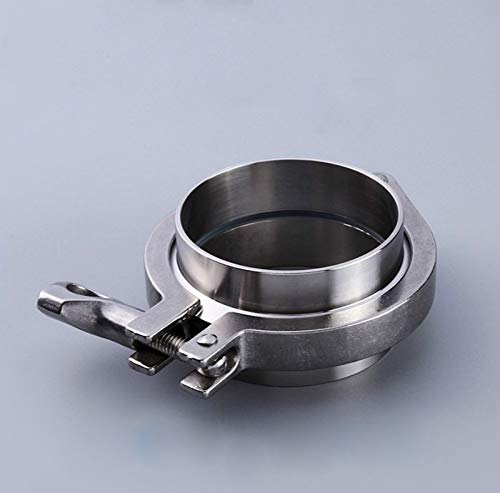 Wang shufang 1Set Edelstahl 304 Sanitäreinzel Pin Tri Clamps Clover Zwinge for Home Brewing 50,5 mm OD