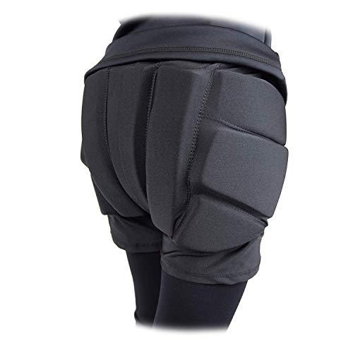 Skating Spirit Padded Shorts Protective Crash Pants Tailbone Hip Butt Pad for Ice Figure Roller Skating Skateboarding Skiing Snowboarding (L) Black