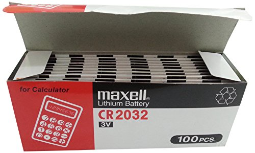 100 X Maxell CR2032 5 X Battery Lithium 3V Cell Coin Button Batteries New