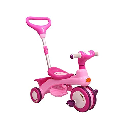 3 ruedas 1, 2, y 3 años de edad, de peso ligero equilibrio interior bebé regalos de cumpleaños color de rosa, azul, rosa sin infantil for vehículos de los niños de la bicicleta plegable de la carretil