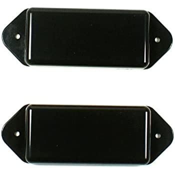a Set of 2 P90 Dog-ear guitar Pickup Covers Cream,Undrilled F07