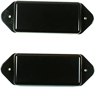 (E88) a Set of 2 P-90 Dog-ear guitar Pickup Covers Black ,Polepiece holes undrilled