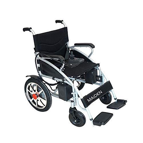 YHANX multifunctionele rolstoel, licht vouwbare elektrische rolstoel, scooter, GPS, 360% rotering, geschikt voor het publiek: ouderen/gehandicapten (zilver .250w * 2)