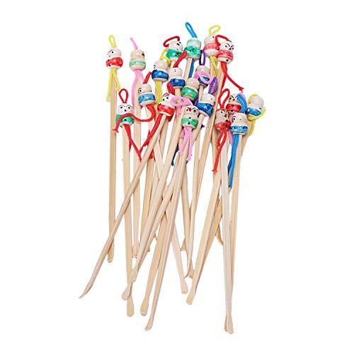 Fltaheroo Bambus Japanische Puppe Ohrenschmalz Pick L?Ffel Ohrenschmalz Entferner 20St