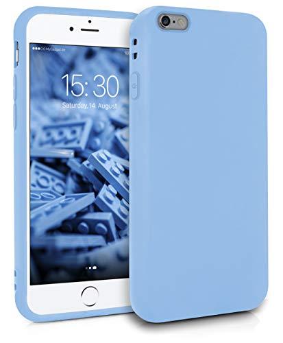 MyGadget Friendly Pocket Custodia TPU per Apple iPhone 6 Plus / 6s Plus - Case Morbida Bordi Rinforzati Cover Silicone Antiurto e AntiGraffio - Blu Chiaro