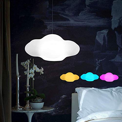Goed vervaardigde moderne led-kroonluchter (kleurrijke afstandsbediening) keuken woonkamer slaapkamer nacht wolk kroonluchter kinderkamer hotel veranda scheidingswand kleur plafondlamp 110-240V