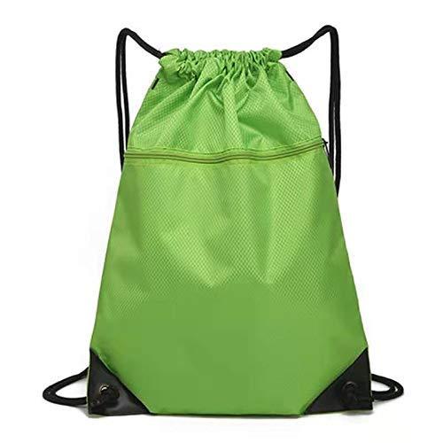 BBGSFDC Bolsa de Baloncesto al Aire Libre Impermeable Oxford Paño con cordón de cordón de cordón (Color : Grass Green)