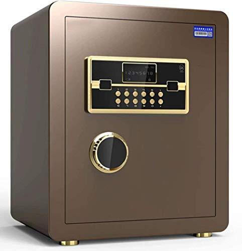 Tresore Safes Haushaltselektronik Passwort Safe Einbau-Alarmanlage Sicherheit Stahl Anti-Diebstahl-feuer- und wasserdichte elektronische 36 * 33 * 45 cm Möbeltresore (Color : Black)