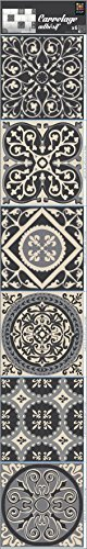 PLAGE Smooth - Tiles tegels stickercement tegels grijs-AzuLEJOS [6 vellen 15 x 15 cm], vinyl, grijs, 15 x 0,1 x 15 cm