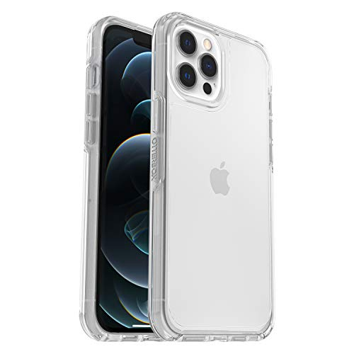 OtterBox Symmetry Series - Back cover for cell phone - polycarbonate, synthetic rubber - clear - for Apple iPhone 12 Pro Max