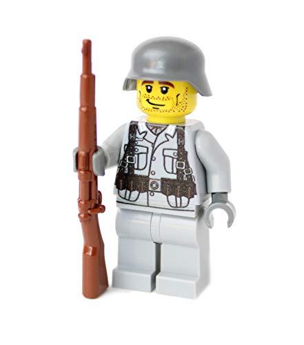 WW2 Custom Soldato Tedesco con BrickArms Kar98, da Lego® Parti