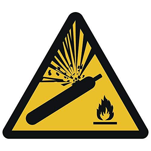 Warnung vor Gasflaschen Aufkleber Ø 10 cm (wetterfest)
