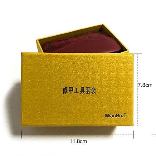 Xiaoyue Motif de Pierre Cas + 18 en 1 pcs Kit Coupe-Ongles Nail Set Soins pédicure Scissor brucelles Couteau Ear Set manucure Choisir l'utilitaire Outils Set (Couleur: Set avec Box) lalay